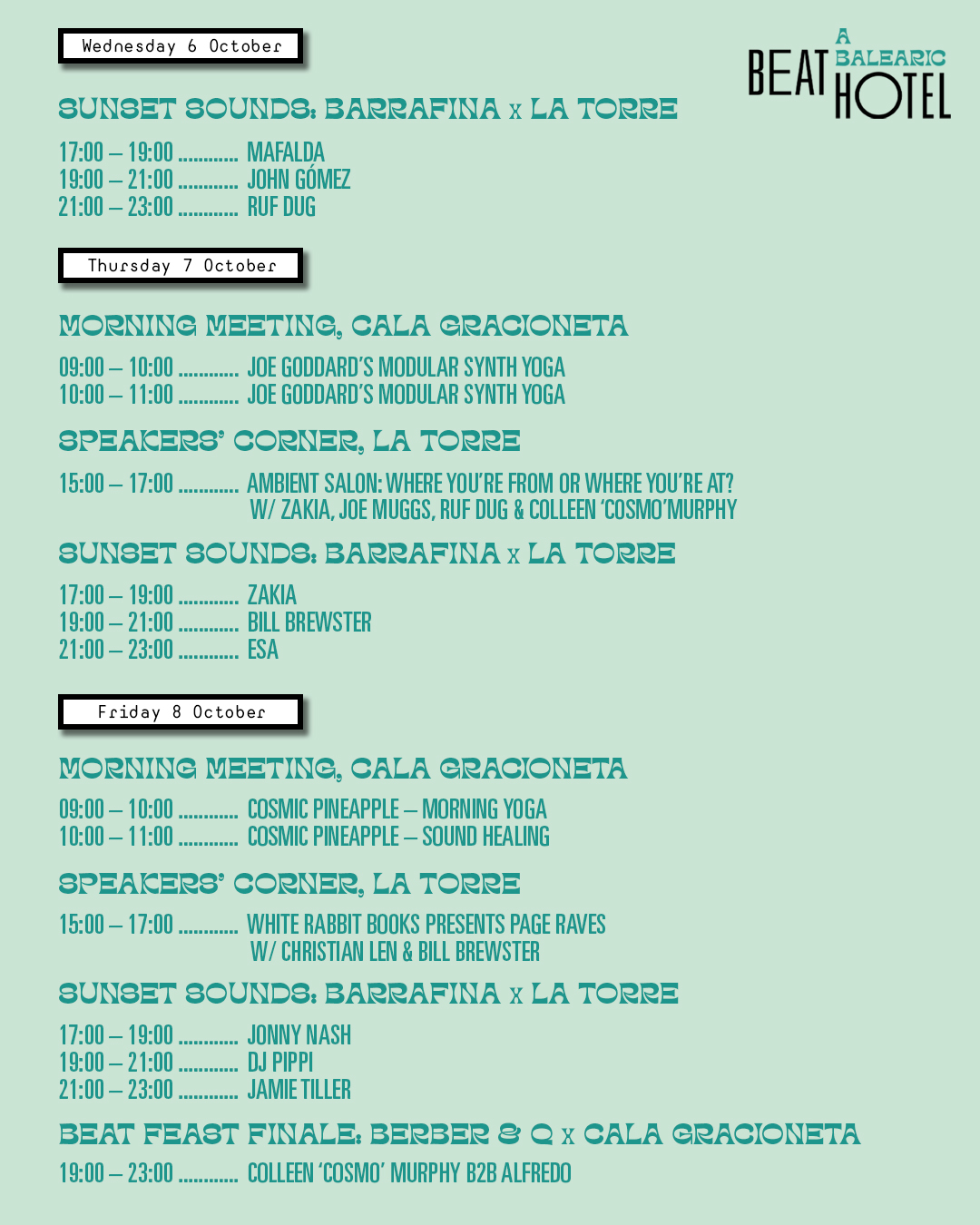A Balearic Beat Hotel Lineup